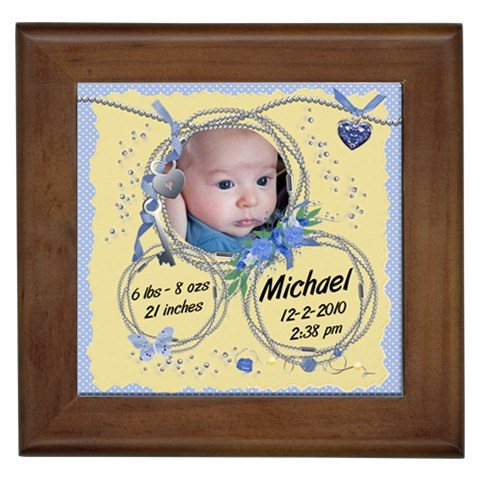 Framed Tile   New Baby By Laurrie   Framed Tile   W7kvnac9d14r   Www Artscow Com Front