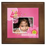 Framed Tile- Birthday