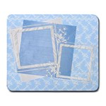 Blue Lace and Satin Custom Large Mousepad