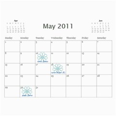 Calendar For 2011 By Mariya   Wall Calendar 11  X 8 5  (12 Months)   Rg4400mbo08a   Www Artscow Com May 2011