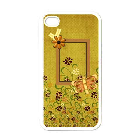 Tangerine Breeze Iphone Case 1 By Lisa Minor   Apple Iphone 4 Case (white)   U46sd363rsar   Www Artscow Com Front