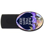 Bleeding Heart Flash Drive - USB Flash Drive Oval (4 GB)