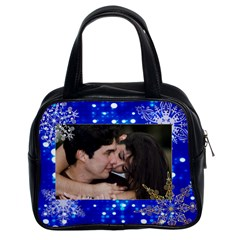 2 Sided Blue Lights With Snowflakes Purse By Ivelyn   Classic Handbag (two Sides)   G53gotdm0ixa   Www Artscow Com Front