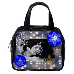 2 Sided Blue Lights With Snowflakes Purse By Ivelyn   Classic Handbag (two Sides)   G53gotdm0ixa   Www Artscow Com Back