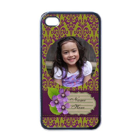 Apple Iphone 4 Case   Purple Love By Jennyl   Apple Iphone 4 Case (black)   D0t6304gndrt   Www Artscow Com Front