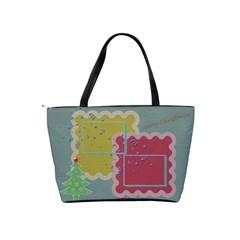 Merry Christmas Shoulder Bag 1 By Daniela   Classic Shoulder Handbag   I8gybvjy6gie   Www Artscow Com Back