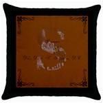 dani and seth christmas! - Throw Pillow Case (Black)