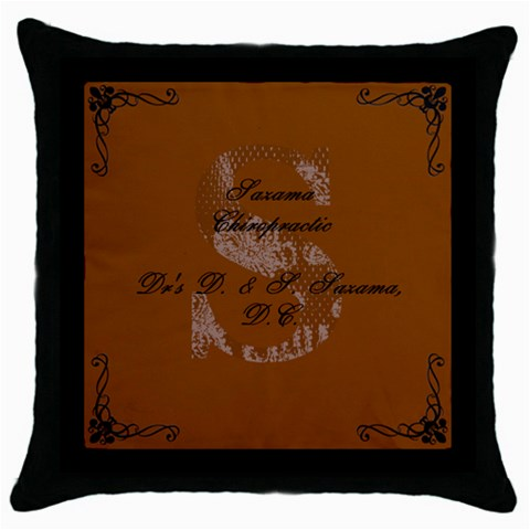 Dani And Seth Christmas! 2 By Chelsie   Throw Pillow Case (black)   99bex2mzxslu   Www Artscow Com Front