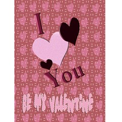 I Heart You Valentines Day Card2 By Danielle Christiansen   Greeting Card 4 5  X 6    4vt6vtiy8mlp   Www Artscow Com Front Cover