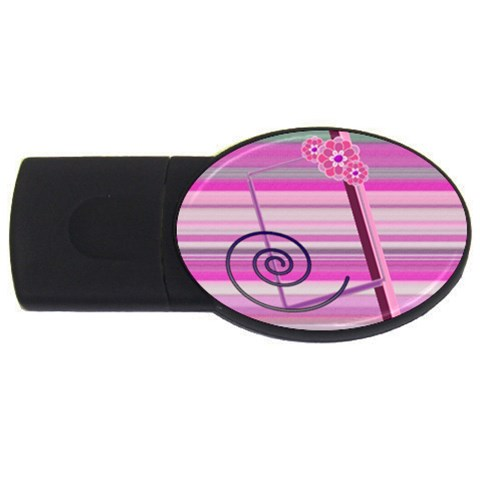 Purple  By Daniela   Usb Flash Drive Oval (4 Gb)   Gkqmznid4rmz   Www Artscow Com Front