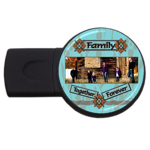 Family Together Forever By Danielle Christiansen   Usb Flash Drive Round (4 Gb)   D6hx5tq5tupy   Www Artscow Com Front