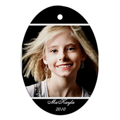 Makayla Ornament By Danielle Christiansen   Oval Ornament (two Sides)   9wnmxd1qrek1   Www Artscow Com Back