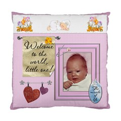 Baby Girl 2 Sided Cushion Case By Lil    Standard Cushion Case (two Sides)   Ukqp0pe1pe89   Www Artscow Com Front