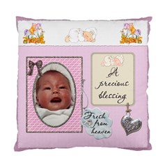 Baby Girl 2 Sided Cushion Case By Lil    Standard Cushion Case (two Sides)   Ukqp0pe1pe89   Www Artscow Com Back