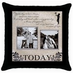 Today  Throw Pillow Case - Throw Pillow Case (Black)