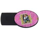 Purple flower - USB Flash Drive Oval (2 GB)