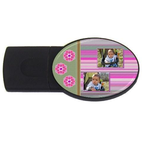 Purple Cutie Usb 1gb By Daniela   Usb Flash Drive Oval (1 Gb)   5y0k4sxwfd54   Www Artscow Com Front