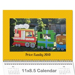 Price Family 2010 By Jana   Wall Calendar 11  X 8 5  (12 Months)   Fuc2nzpon3dh   Www Artscow Com Cover