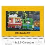 Price Family 2010 - Wall Calendar 11  x 8.5  (12-Months)