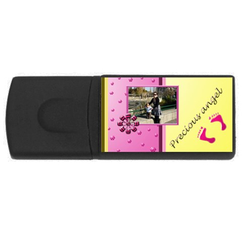 Precious Angel Girl   1gb Usb By Daniela   Usb Flash Drive Rectangular (1 Gb)   2kfzld201n34   Www Artscow Com Front