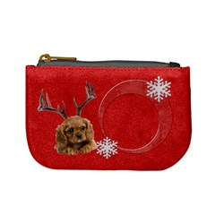 Christmas Puppy Coin Purse By Laurrie   Mini Coin Purse   Ek9n1l2i4r5h   Www Artscow Com Front