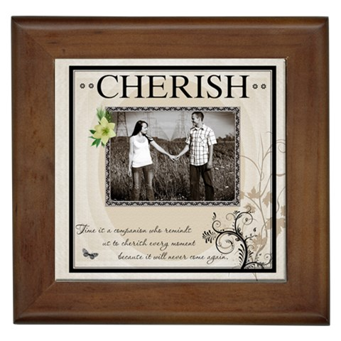 cherish  Framed Tile By Lil    Framed Tile   2lc9clqvxuuy   Www Artscow Com Front