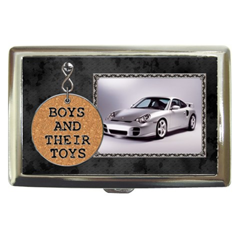 Boys And Their Toys Cigarette/money/card Case By Lil    Cigarette Money Case   9lokj83wv885   Www Artscow Com Front