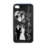 Mr & Mrs Apple iPhone 4 Case - Apple iPhone 4 Case (Black)