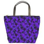 Purple Floral Custom Bucket Bag