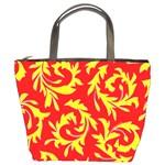 Yellow Paisley Custom Bucket Bag