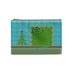 Christmas Cosmetic Bag   Medium By Daniela   Cosmetic Bag (medium)   Gc7uzoxufu1m   Www Artscow Com Front