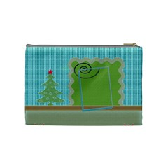 Christmas Cosmetic Bag   Medium By Daniela   Cosmetic Bag (medium)   Gc7uzoxufu1m   Www Artscow Com Back