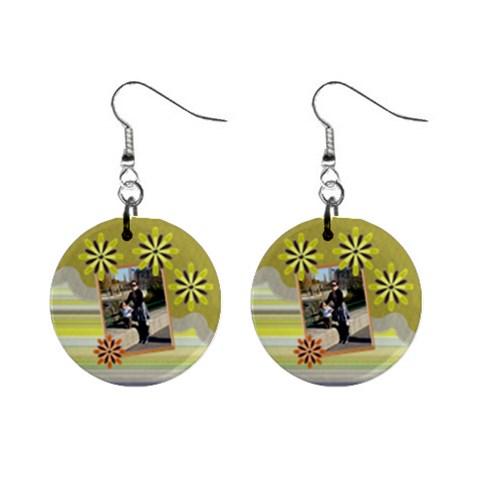 Yellow Petal Earings By Daniela   1  Button Earrings   Lb9r5yca2dp0   Www Artscow Com Front