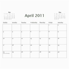 Calendar 2011 By Courtney Milam   Wall Calendar 11  X 8 5  (12 Months)   94o5pekuoar1   Www Artscow Com Apr 2011