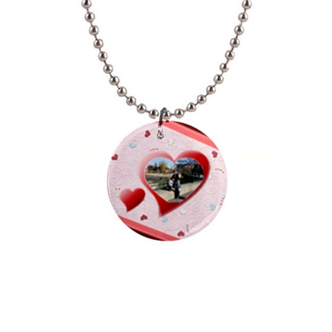 Love Necklace By Daniela   1  Button Necklace   1v1tqxjmc2m9   Www Artscow Com Front