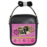 Pink & Yellow sling bag - Girls Sling Bag