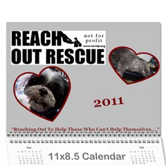 Rescue Calander By Tracy Caccavella Perrin   Wall Calendar 11  X 8 5  (12 Months)   Bkd98l6kn8hs   Www Artscow Com Cover