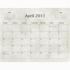 Rescue Calander By Tracy Caccavella Perrin   Wall Calendar 11  X 8 5  (12 Months)   Bkd98l6kn8hs   Www Artscow Com Apr 2011