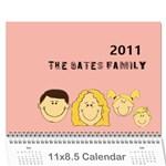 12 mos calendar - Wall Calendar 11  x 8.5  (12-Months)