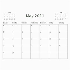 Moms Calendar By Kelli Ward   Wall Calendar 11  X 8 5  (12 Months)   W5po2cx0capw   Www Artscow Com May 2011