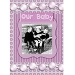 our baby card - Greeting Card 5  x 7