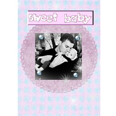 Our Baby Card By Danielle Christiansen   Greeting Card 5  X 7    Rlqoqd8it2kx   Www Artscow Com Front Inside