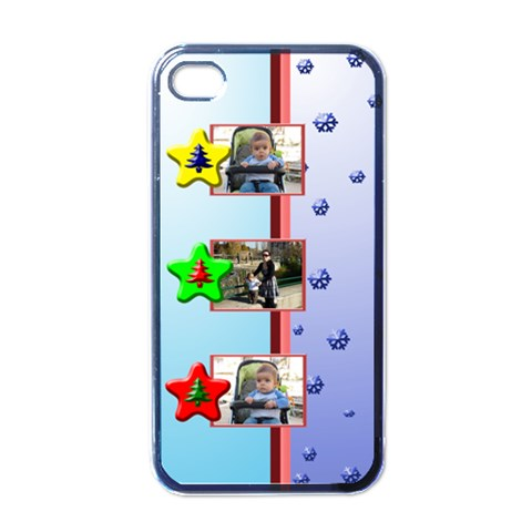 Christmas Baby Iphone 4 Case By Daniela   Apple Iphone 4 Case (black)   Q676mjmc2fsf   Www Artscow Com Front