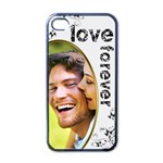 love forever valentine monochrome  i phone case - Apple iPhone 4 Case (Black)
