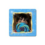 blue with sparkles magnet - Magnet (Square)
