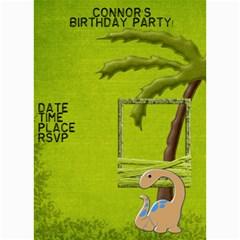 Dinosaur Birthday Invitation By Lisa Minor   5  X 7  Photo Cards   Lnk205jqxi27   Www Artscow Com 7 x5 Photo Card - 2