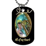 All of my Heart Liquid Gold Dog Tag - Dog Tag (Two Sides)