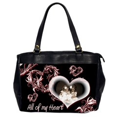 All Of My Heart Oversized Office Bag By Catvinnat   Oversize Office Handbag (2 Sides)   P0alpbses7vp   Www Artscow Com Front