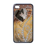 Diamond Rose Apple iphone 4 Case - Apple iPhone 4 Case (Black)