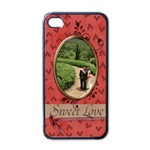 iPhone 4 Case - Sweet Love - Apple iPhone 4 Case (Black)